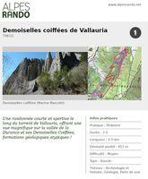 """THEUS """"Demoiselles coiffées de Vallauria"""" Boucle 3h - 6,5 km / Moyen"""