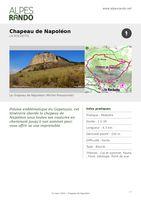 """LA ROCHETTE """"Chapeau de Napoléon"""" Boucle 1h30 - 4,3 km / Facile"""