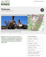 """ST ETIENNE LE LAUS """"Pindreau"""" Boucle 1h - 3,6 km / Facile"""