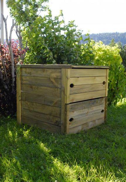 Le kit complet à la vente : le composteur bois