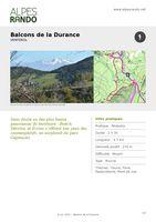 """VENTEROL """"Balcons de la Durance"""" Boucle 2h30 - 4,8 km / Moyen"""