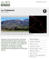 "MONTGARDIN ""Le Châtelard"" - Boucle 2h30 - 9,6 km / Moyen"