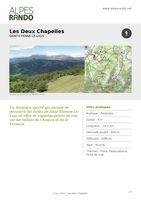 """ST ETIENNE LE LAUS """"Les Deux Chapelles"""" Boucle 4h - 16,3 km / Difficile"""