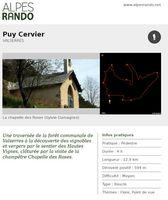 """VALSERRES """"Puy Cervier"""" Boucle 4h - 12,9 km / Moyen"""