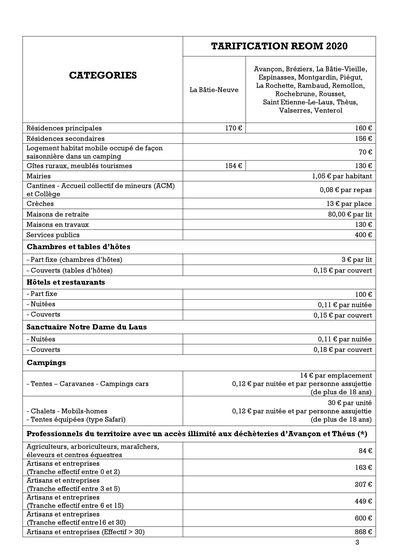 Tarifs REOM 2020 - page 1