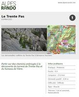 """ESPINASSES """"Le Trente Pas"""" Boucle 4h - 15,6 km / Difficile"""