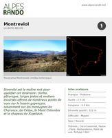 """BATIE-NEUVE """"Montreviol"""" - Boucle 2h30 - 6,9 km / Moyen"""