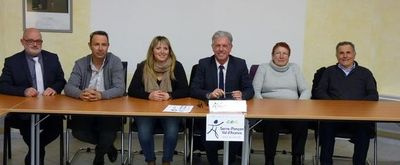 Le Président, M. Joël Bonnaffoux et les 5 vice-présidents et vice-présidentes de la CCSPVA