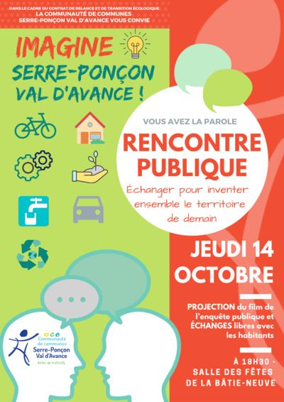 """Rencontre publique """"Imagine Serre-Ponçon Val d'Avance !"""""""
