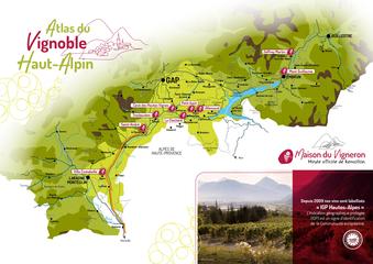 Carte Atlas du Vignoble Haut-Alpin 2021