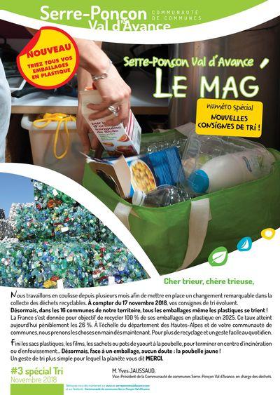 Le Mag' #3 spécial Nouvelles consignes de tri - Octobre 2018