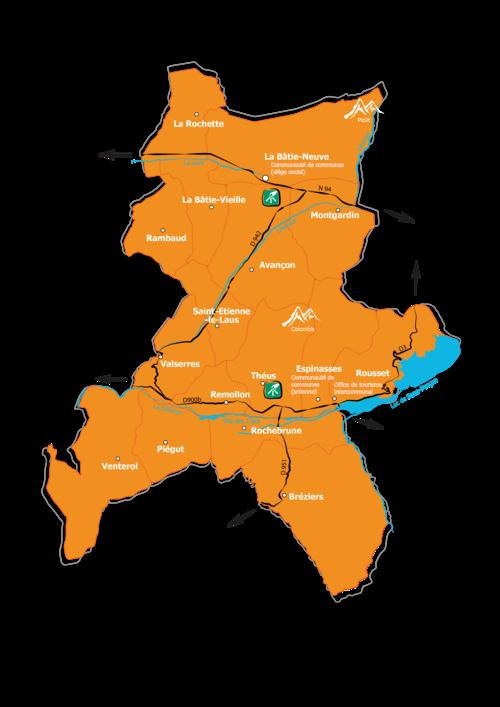 Carte du territoire