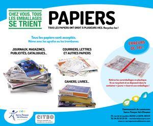 Tri des papiers > poubelle bleue