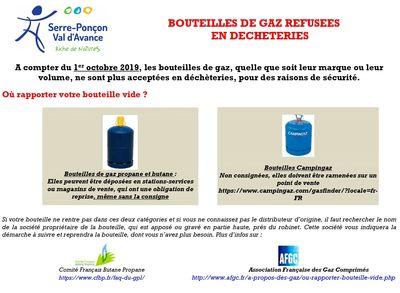 Les bouteilles de gaz désormais interdites en déchèteries !