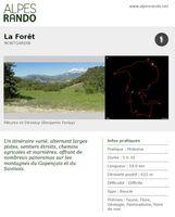 """MONTGARDIN """"La Forêt"""" - Boucle 5h30 - 18 km / Difficile"""