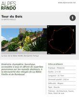 """BATIE-VIEILLE """"Tour du Bois"""" - Boucle 2h30 - 8,7 km / Moyen"""
