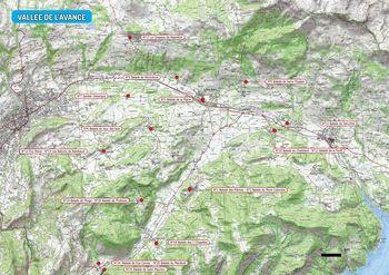 Carte des départs dans le Val d'Avance