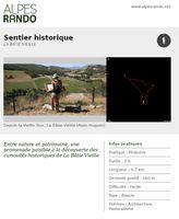 """BATIE-VIEILLE """"Sentier historique"""" - Boucle 2h - 6,7 km / Facile"""