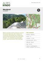 "VALSERRES ""Merdarel"" Boucle 2h - 5,5 km / Moyen"