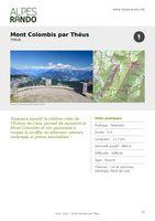 """THEUS - """"Mont-Colombis par Théus"""" Boucle 5h - 11,9 km / Difficile"""