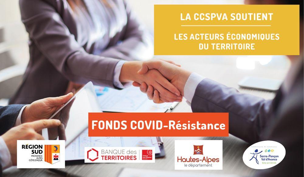 FONDS « COVID-RESISTANCE » : la CCSPVA ABONDE A HAUTEUR DE 15 000 EUROS