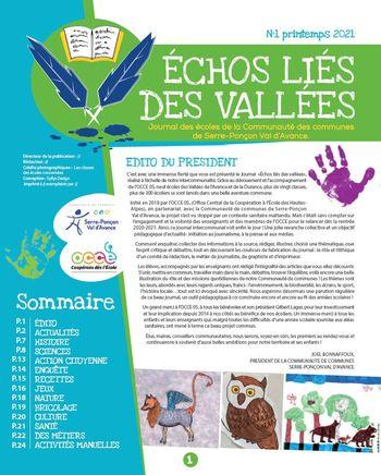 JOURNAL DES ECHOS LIES DES VALLEES 2021 N°1