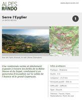 """BATIE-NEUVE """"Serre l'Eyglier"""" - Boucle 6h - 15,4 km / Difficile"""