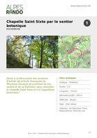 """ROCHEBRUNE """"Chapelle St Sixte par le sentier botanique"""" A/R 2h - 3,7 km / Moyen"""