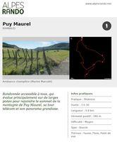 """RAMBAUD """"Puy-Maurel"""" Boucle 3h30 - 9,8 km / Moyen"""