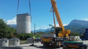Création d'un nouveau point de tri à Rousset, au belvédère du lac