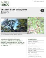 """BREZIERS """"Chapelle St Sixte par la Bergerie"""" - 2h30 - 8,2 km / Facile"""