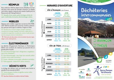 "Brochure ""Déchèteries intercommunales 2019"""