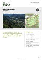 """VALSERRES """"SAINT MAURICE"""" Boucle 4h30 - 12,2 km / Difficile"""