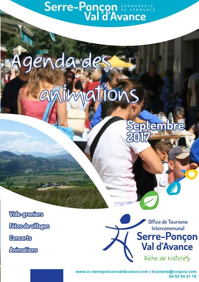 Agenda des animations septembre 2017