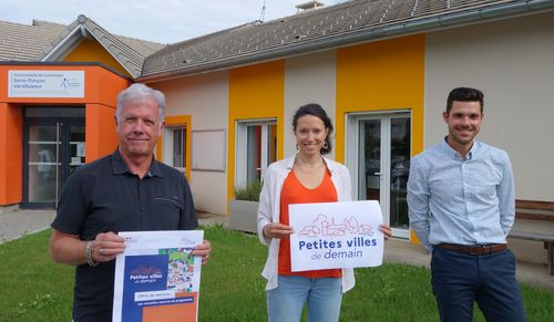 Joël Bonnaffoux, Président de la CCSPVA - Marion DECALF, chargée de projet - Gaëtan Parpillon, Directeur des Services