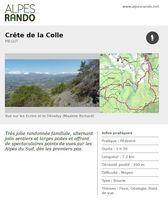 "PIEGUT ""Crête de la Colle"" Boucle 3h30 - 7,3 km / Moyen"