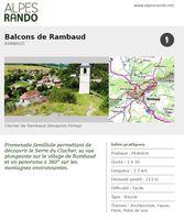 "RAMBAUD ""Balcons de Rambaud"" Boucle 1h30 - 2,7 km / Facile"