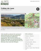 """ST ETIENNE LE LAUS """"Crêtes du Laus"""" Boucle 3h - 8,5 km / Moyen"""