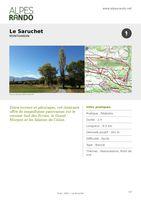 """MONTGARDIN """"Le Saruchet"""" - Boucle 2h - 6 km / Facile"""