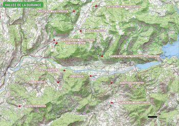 Carte des départs de la Vallée de la Durance