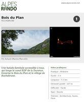 """ROCHEBRUNE"""" Bois du Plan"""" Boucle 2h - 5,1 km / Facile"""