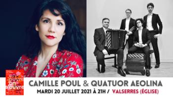 Camille Poul & Quatuor Aeolina - 20-07 VALSERRES