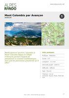 """AVANCON """"Mont-Colombis par Avançon"""" - Boucle 6h - 21,5 km / Difficile"""