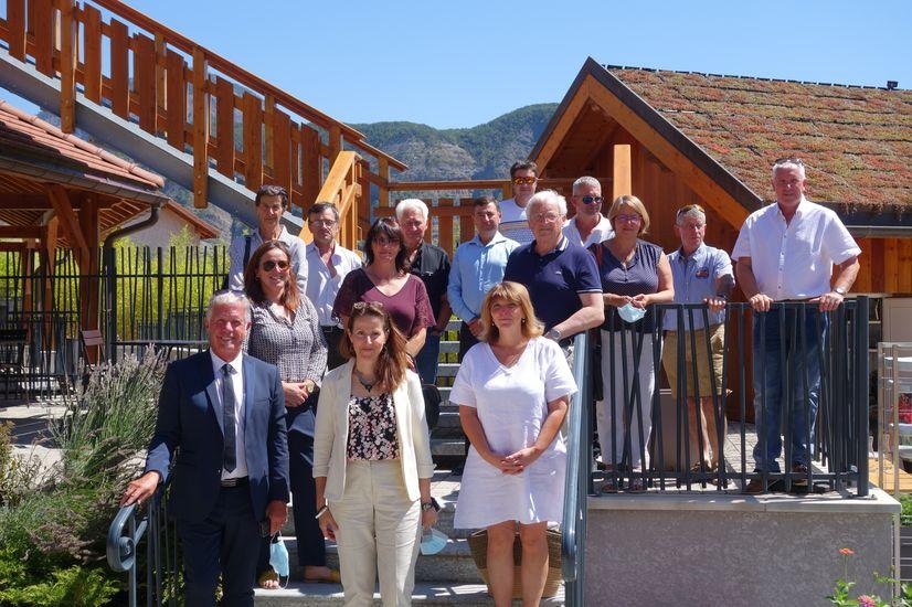 La délégation au Musée Apiland - Rousset