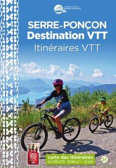 Carte VTT Destination Serre-Ponçon en vente 3 € dans les offices de tourisme du territoire